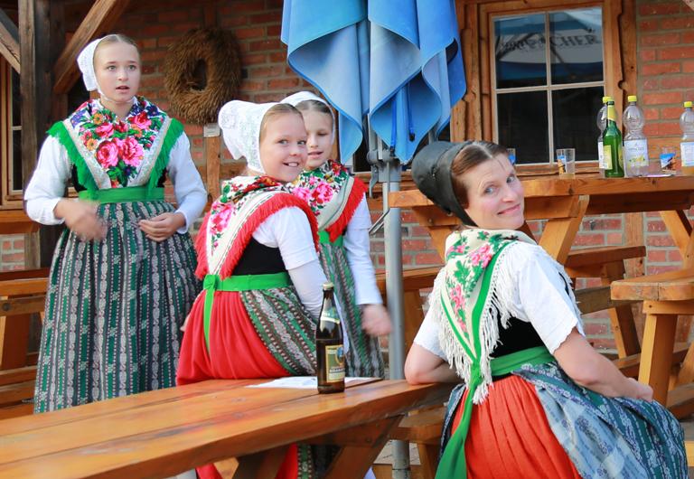 Brauchtumsgruppe Schwarzkollm in der Krabatmühle