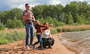 Familie am Geierswalder See