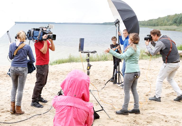 Filmdreh Sachsenspiegel über Marketingverein Hoyerswerda