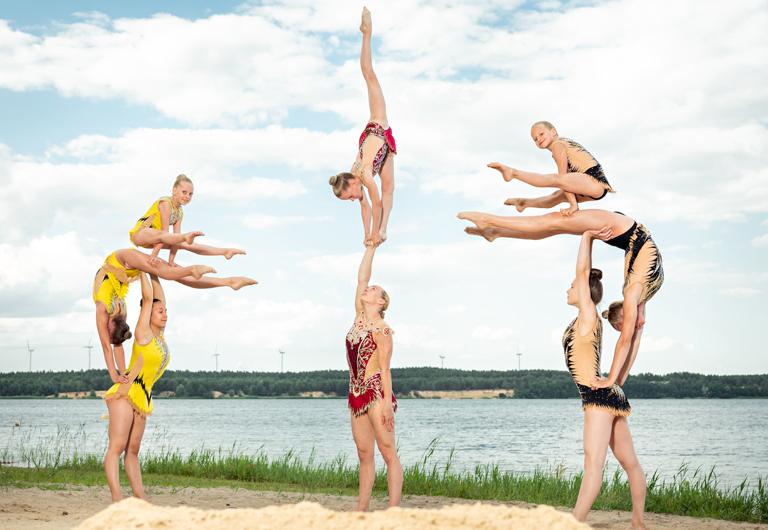 Sportakrobaten des Sportclubs Hoyerswerda