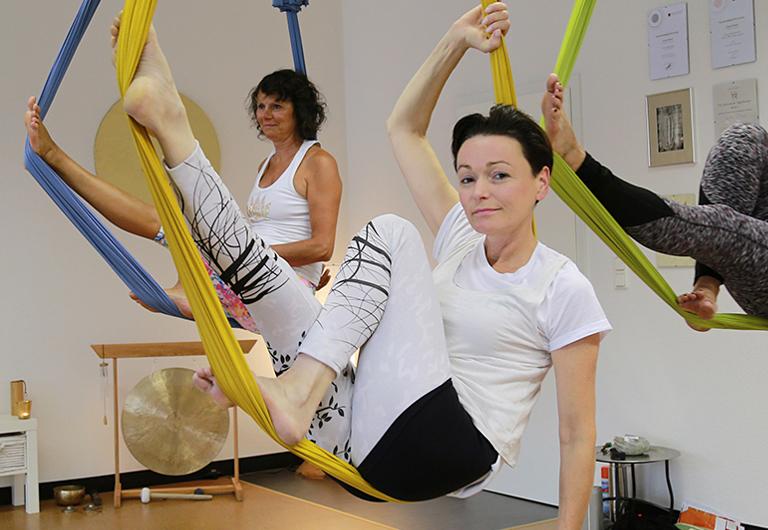 Freizeitgestaltung in Hoyerswerda mit Hänge-Yoga