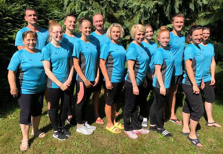 Trainer-Team der Sportakrobaten