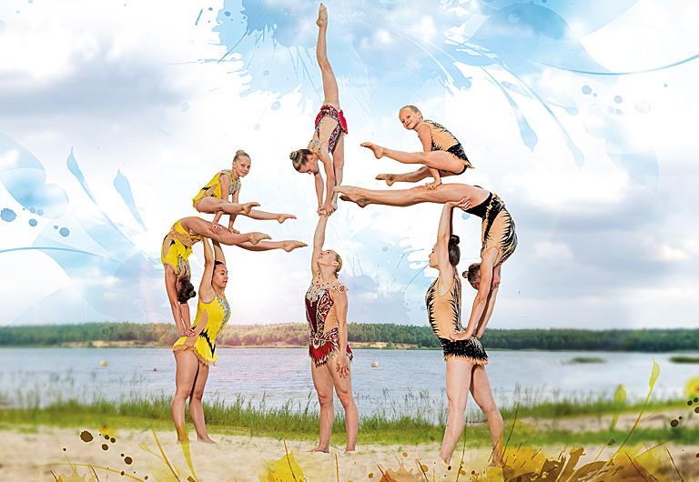 Sportakrobatik am Scheibe See