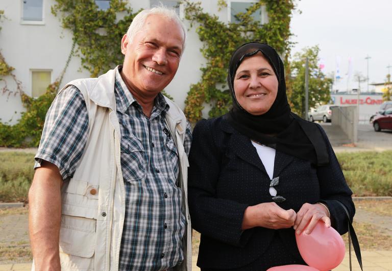 Bewohner der Stadt aus Syrien