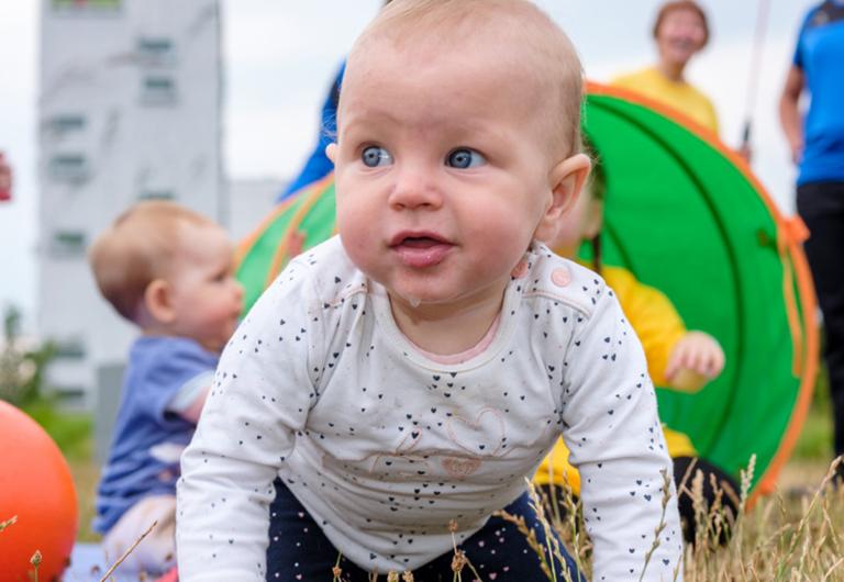 Baby im Sportclub Hoyerswerda