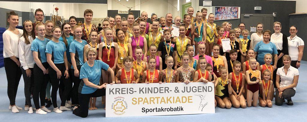 80 Sportakrobaten im SC Hoyerswerda