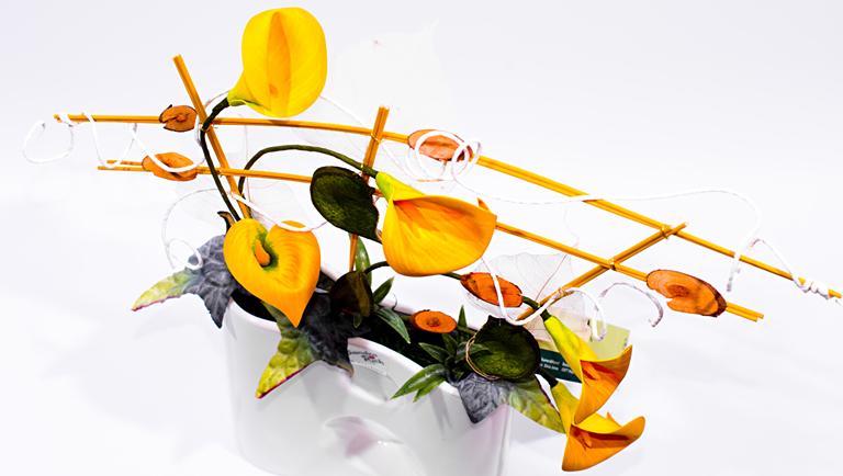 Blumen und Kunst aus Hoyerswerda