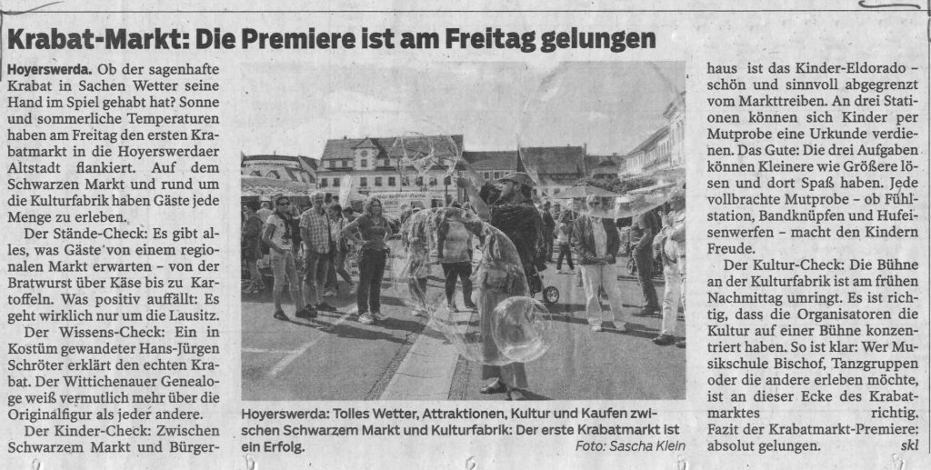 Pressebericht LR KRABAT-Markt